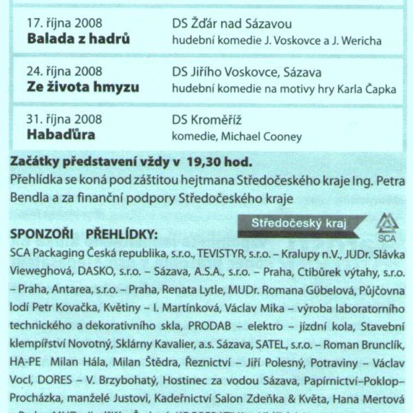 Sázavské listy září 2008